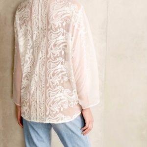 Beyond Vintage for Anthropologie White Kimono